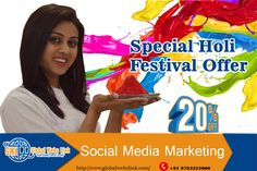 "Holi Special Offer Best ways to promote your business Facebook, Twitter, Google+,  ""A Brand is no longer about what we tell the consumer it is – it is what consumers tell each other it is"". The Year 2017 is the Year to embrace customer experiences. Doing more of what doesn't work won't make it work any better. Local Businesses and Startups are competing for Customers, Clients more today than ever before. #Holi #Special #Offer, #Social #Media #Marketing #india #Lucknow"