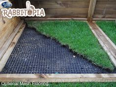 Optional mesh flooring prevents your rabbits from burrowing out and being left unprotected. It also stops predators from digging their way in!