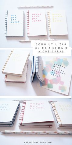 Ideas de Cuadernos bonitos - ¡A dos caras! Bullet Journal Pinterest, Agenda Organization, Pen Pal Letters, School Planner, Diy Notebook, Diy School Supplies, Handmade Books, Easy Diy Crafts, Bullet Journal Inspiration