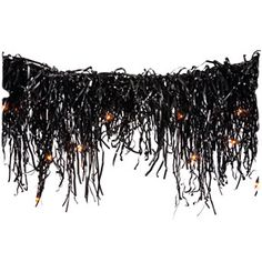 Use a strand of Chirstmas lights and attach a shredded garbage bag to create a similar look.