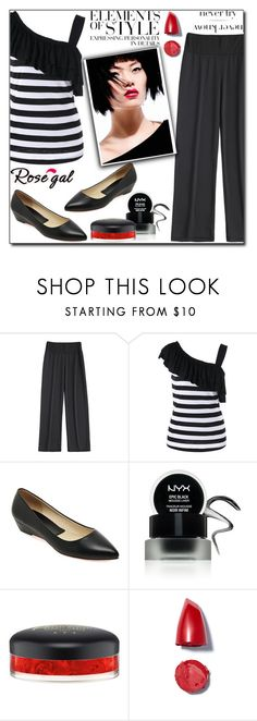 """Wide Leg Pants by Rosegal 3/II"" by esma178 ❤ liked on Polyvore featuring Vera Wang, NYX and MAC Cosmetics"