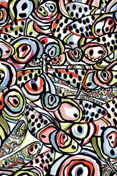 Matthew Williamson spring/summer 2014 Abstract Flight print in Rainbow. #MatthewWilliamson #SS14 #Prints