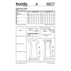 BURDA - 6627, I will make this from some pink, geometric, linen-look fabric.