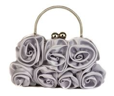 Scarleton Satin Evening Bag with Rosettes H321017 - Silver Scarleton, HANDBAGS if you wish to buy just CLICK on AMAZON right HERE http://www.amazon.com/dp/B009TCE48O/ref=cm_sw_r_pi_dp_VsG3sb0KM8F1HNVT