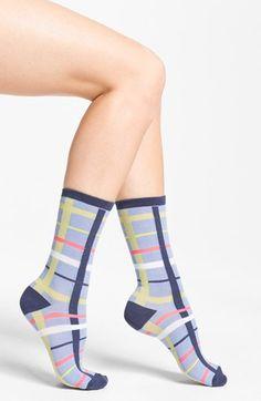 Nordstrom 'Soft Touch' Plaid Crew Socks (3 for $18) | Nordstrom