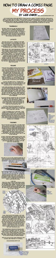 How to Draw Comics layout  by ~leeoaks NEED THIS