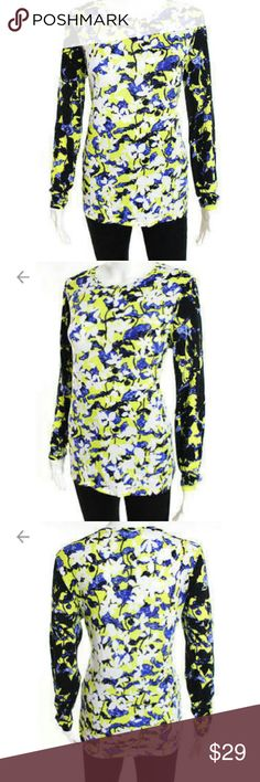 """Peter Pilotto for Target Bust is approximately 20"""" Length is 27"""" Fits as a large. Fabulous condition! Beautiful Colors. 60% Cotton, 40% Modal Peter Pilotto for Target Tops Tees - Long Sleeve"""