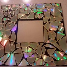 Old CD picture frame mosaic