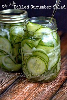 Cucumber Dill Salad   bakeatmidnite.com   #salads #pickles #cucumbers