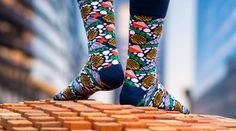Loving our November Edition #socks #design by the talented Nina Sepahpour. Subscribe by midnight Monday to get yours.