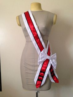 White Black and Red Sash · Truly Darling Boutique and SS · Online Store Powered by Storenvy