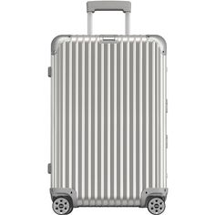 Rimowa North America Topas 26 E-Tag Multiwheel (1,550 NZD) ❤ liked on Polyvore featuring bags, luggage and silver
