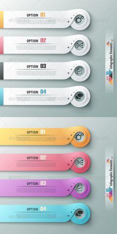 Modern Infographic Options Banner Template #design Download: http://graphicriver.net/item/modern-infographic-options-banner/7395977?ref=ksioks