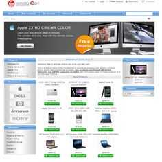 Technology shop #template for #Tomatocart 1.1