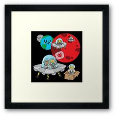 'Space Cats' Framed Print by Adrian Serghie Space Cat, Framed Prints, Cats, Gatos, Kitty Cats, Cat Breeds, Kitty, Cat, Kittens