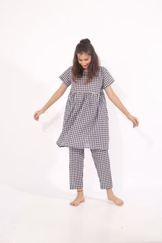 Wear them together, wear them as separates, wear the shirt as a dress - but you'd never stop wearing them, we bet! Loungewear Set, Separates, Workout Tops, Pyjamas, Pajama Set, Lounge Wear, Plaid, Comfy, Shorts
