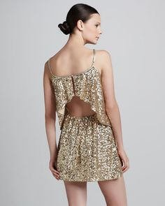 Sequined Tiered Dress by Lovers + Friends at Neiman Marcus.