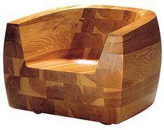 Isamu Kenmochi: Kashiwado Modern Design Japanese Wooden Lounge Chair   NOVA68 Modern Design