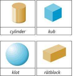 Här hittat bättre bilder och lagt till dem i materialet.Tre dels kort med geometriska solider. Den sista bilden är väldigt dålig men jag är inte jätteduktig på datorer så om någon kan hjälpa mig hur… Math School, Math Class, Math For Kids, Activities For Kids, Swedish Language, Preschool Math, Math Lessons, Fabric Art, Kids And Parenting