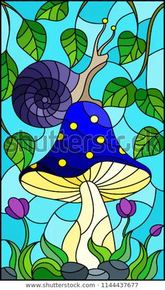 Stained Glass Flowers, Faux Stained Glass, Stained Glass Designs, Stained Glass Patterns, Mosaic Wall Art, Mosaic Glass, Kids Canvas Art, Glass Art Pictures, Mushroom Art