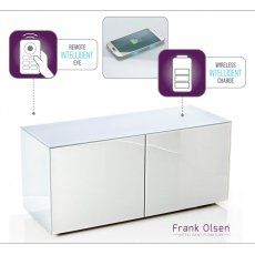 Frank Olsen INTEL1100WHT White TV Cabinet For TVs Up To 55""