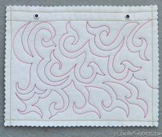 """Free Motion Quilting Sampler Book """"Swirled Hook"""" 