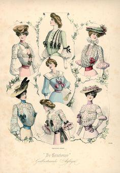 [De Gracieuse] Verschillende elegante blouses (August 1901)