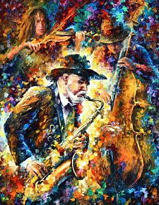 Jazz Art - Endless Tune — Music Oil Painting By Leonid Afremov. Arte Jazz, Jazz Art, Jazz Music, Tune Music, Music Life, Colorful Paintings, Beautiful Paintings, Image New, Leonid Afremov Paintings