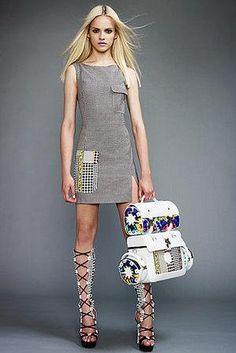 Leighton Meester wearing Versace Dress.