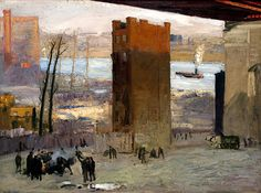 George Bellows  Google Image Result for http://artoutthewazoo.files.wordpress.com/2012/01/bellows-the-lone-tenement.jpg