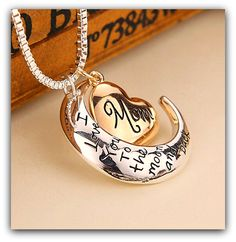 VERY NICE!!!  MOM - I LOVE You To The MOON And BACK NECKLACE