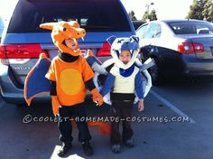 Coolest Charizard and Blastoise Costumes for Boys