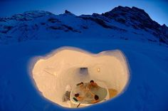 """This cold sauna has been called the """"Snow Room"""" and could find its way into luxury hotels as a standard spa offering.  It's produced by a company that has developed traditional saunas."""