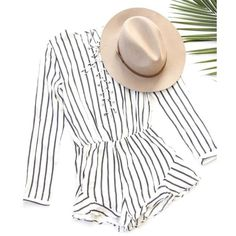 Striped Lace Up Romper Brand new. Partially lined. Dresses Mini