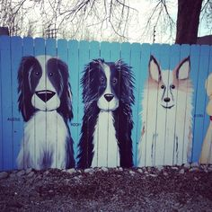 ARF Fence Panel Project  Paintings by Brian Blair Studio