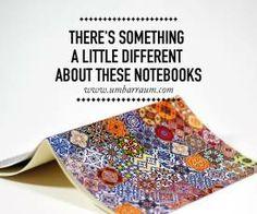 """Cadernos personalizados, feitos à mão com a ajuda de uma """"Oliva""""  Bem giros, bem artísticos e bem portugueses   #Portugal #arte"""