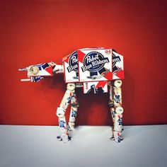 PBR-ATAT Pabst Blue Ribbon, More Beer, Japanese Words, Football Helmets, Wicked, Star Wars, Wonder Woman, Stars, Funny