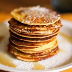 Gluten Free Pineapple Coconut Pancakes