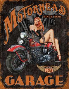 Legends - Motorhead Garage Placa de lata
