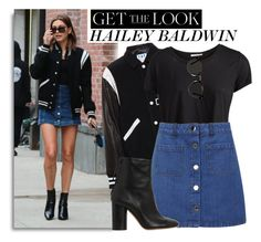 Celebrity Style: Hailey Baldwin by monmondefou on Polyvore featuring polyvore, fashion, style, Pieces, Filles à papa, Miss Selfridge, Isabel Marant, GetTheLook, celebrity and CelebrityStyle