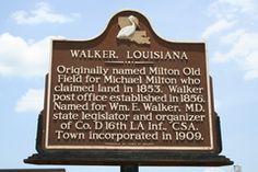 Walker, Louisiana   incorporated in 1909