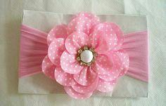 Fita Fabric Flower Headbands, Fabric Hair Bows, Fabric Ribbon, Baby Girl Headbands, Fabric Flowers, Baby Girl Hair Accessories, Craft Accessories, Kids Hair Bows, Girls Bows