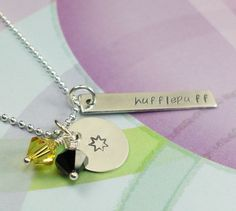 Harry Potter Necklace Hufflepuff Pride by JustDuckieDesigns, $34.36