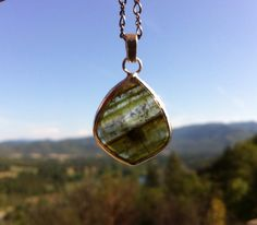 Lidicotite Tourmaline slice Sterlimg silver by SeleneJoyDesigns