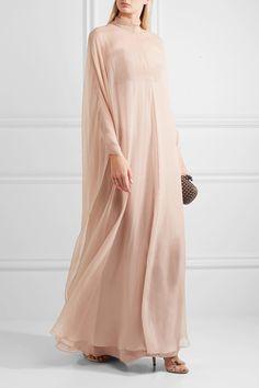 Valentino | Silk-chiffon gown | NET-A-PORTER.COM