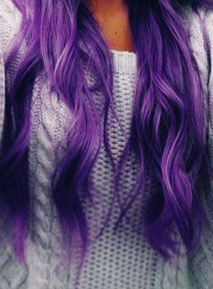Loving purple hair.