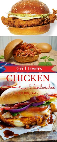 Grill Lovers' Amazing Chicken Sandwiches with BBQ Sauce Recipe   #recipes #foodporn #foodie