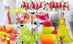 Slideshow: Wedding Color Alert -- Neon!