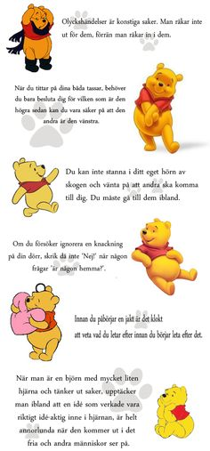 Bildresultat för Kloka Ord Från Nalle Puh Sad Texts, Beautiful Poetry, Text Pictures, Preschool Crafts, Holidays And Events, Winnie The Pooh, Wise Words, Favorite Quotes, Me Quotes