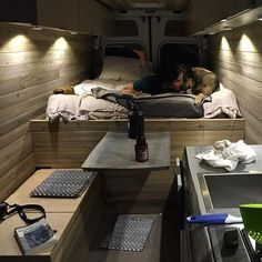 100+ Cozy Camper Van Bed Ideas